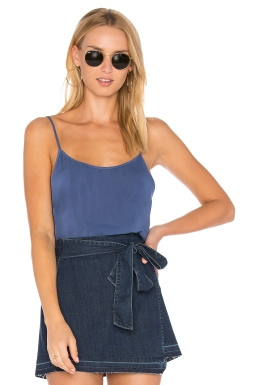 LACAUSA Easy Slip Cami in French Blue, $52 from REVOLVE