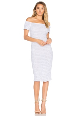 LACAUSA Smocked Dress, $154, Photo Cred REVOLVE