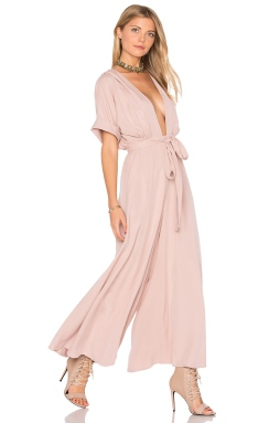 Mara Hoffman Deep V Jumpsuit in Mauve, $375 from REVOLVE