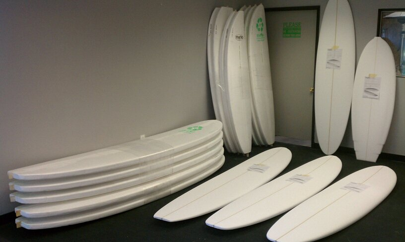 Marko Foam Blanks, Photo Cred Waste to Waves