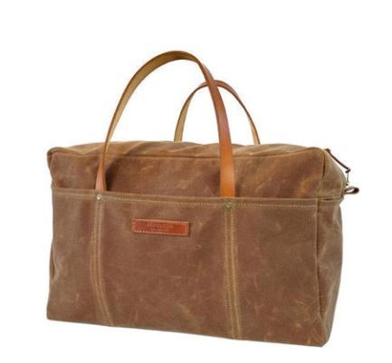 Red Clouds Collective Waxed Canvas Duffel Bag from Kaufmann Mercantile, Photo Cred Kaufmann Mercantile