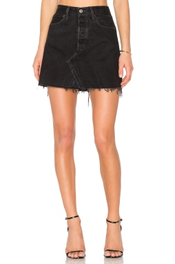REDONE Levis High Waist Mini Skirt in Black, $255 from REVOLVE