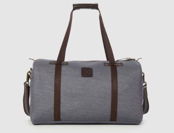 Rust & Fray Nomad Gray Denim Duffel Bag, Photo Cred Rust & Fray