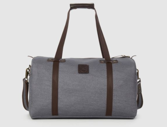 Rust & Fray Nomad Gray Denim Duffel Bag, Photo Cred Rust & Fray