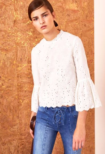 Ulla Johnson Grace Blouse in Blanc, Photo Cred Ulla Johnson