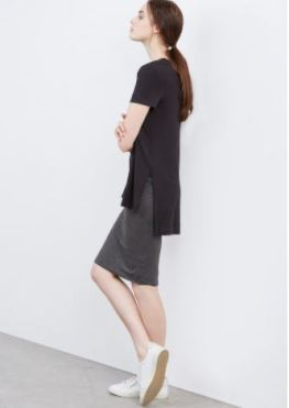 Amour Vert Paola High-Low Tee in Black, $58, Photo Cred Amour Vert