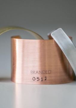 Branded Collection Large Copper BRANDED Cuff, $45, Photo Cred Branded Collection