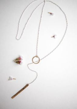 Branded Collection Textured Mixed Metal Lariat Necklace, $50, Photo Cred Branded Collection