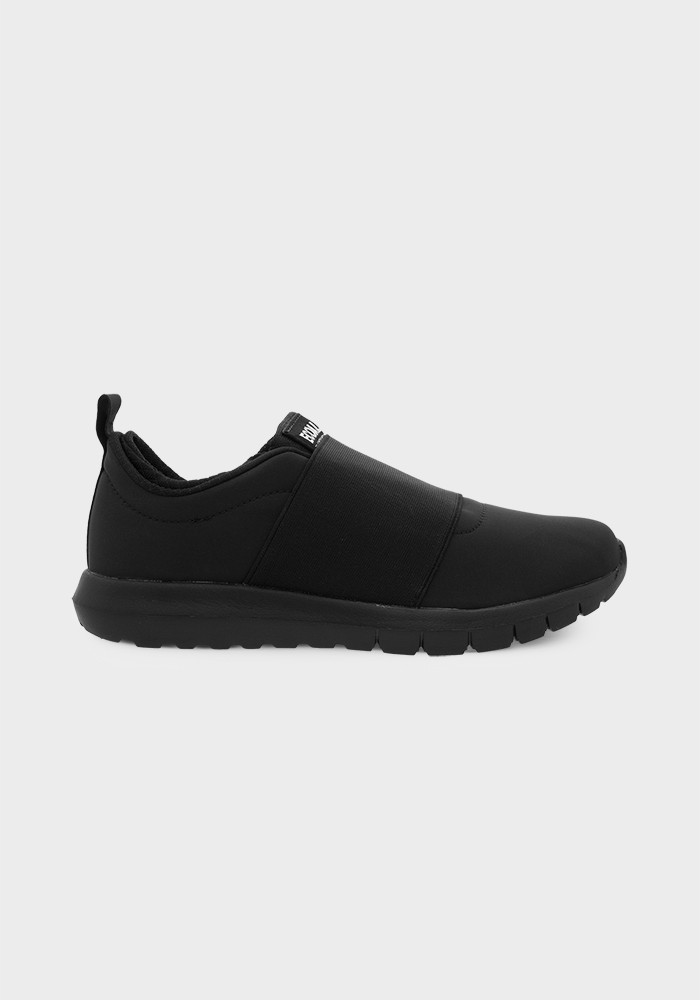 Ecoalf Boston Laceless Sneakers in Black, $95, Photo Cred Ecoalf