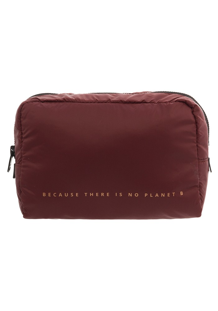 EcoalfChalton Medium Dressing Case in Burgundy, $48, Photo Cred Ecoalf
