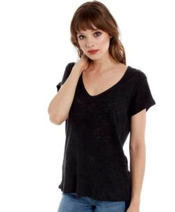 Groceries Apparel Linen Soft Vee, $78, Photo Cred Groceries Apparel