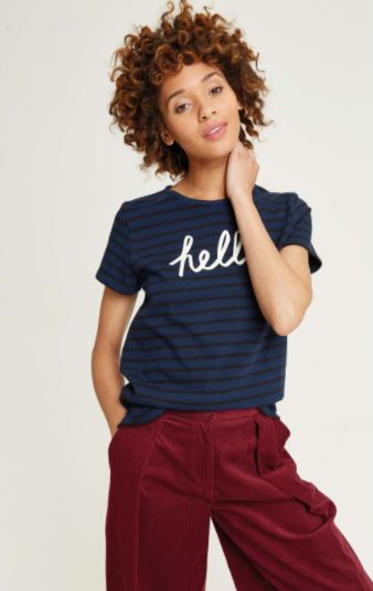 Hello Stripe Tee from People Tree, $54, Photo Cred People Tree