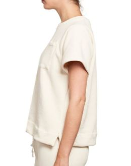 Mainline Baldwin Short Sleeve Sweatshirt in Natural, $108, Photo Cred Mainline