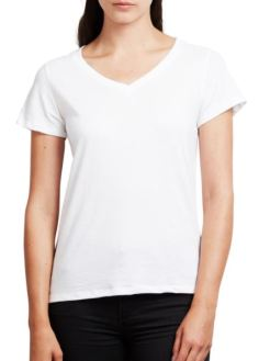 Mainline Beau V-Neck in White, $82, Photo Cred Mainline