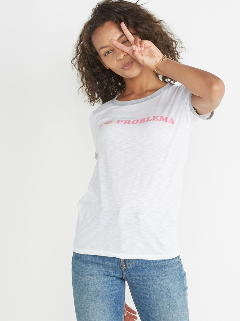 No Problema Ringer Tee from Marine Layer, on sale for $25, Photo Cred Marine Layer (2)