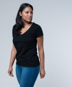 PACT Organic Women's V-Neck Tee, $15.99, Photo Cred PACT Organic