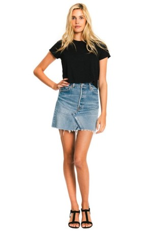 REDONE The 1950s Boxy Tee in Black, $78, Photo Cred REDONE