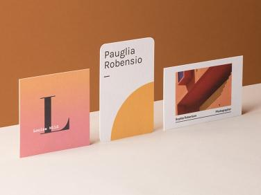 Pure Cotton Paper Business Cards, Photo Cred MOO